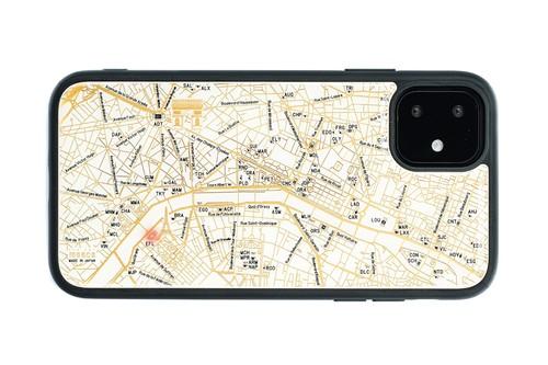 FLASH Paris回路地図 iPhone 11 ケース  白【東京回路線図A5クリアファイルをプレゼント】