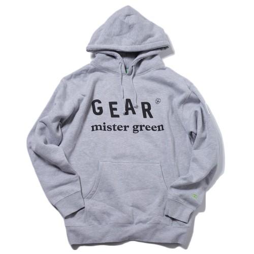 MISTER GREEN GEAR EDITION LOGO HOODED SWEAT SHIRT(HEATHER)