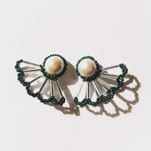 Pearl Lace Pierce/Earrings(Mサイズ)