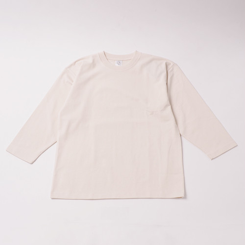Smooth Heavy Embroidery Cropped Sleeve designed by Joji Nakamura / NATURAL