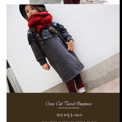 韓国子供服SALE❤️半額フリンジワンピース