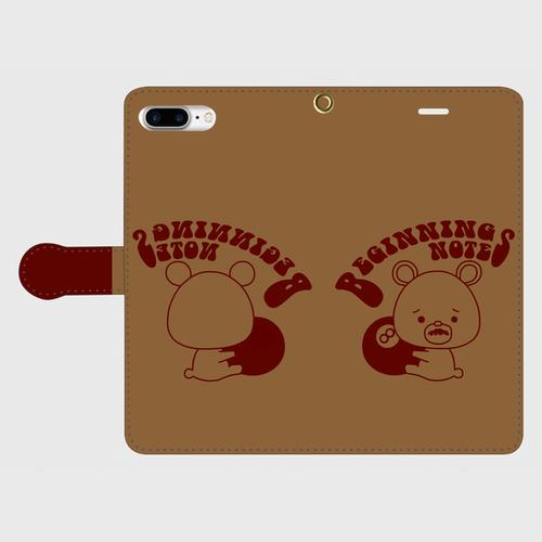 ビギクマちゃん手帳型スマホケース(iPhone8plus用)