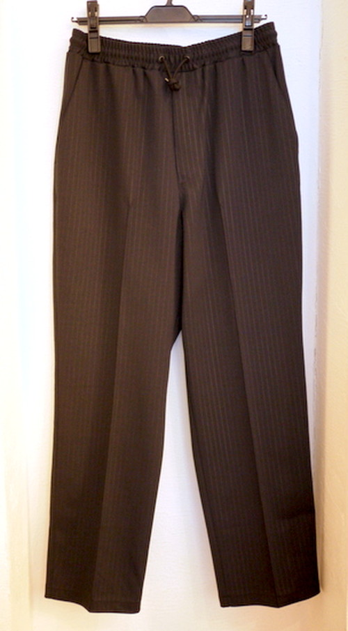 Pinstripe Track Pants Black
