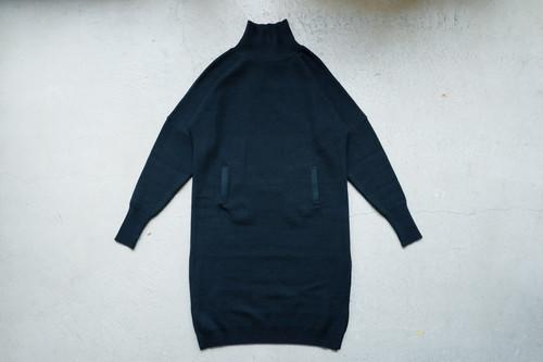 YANTOR Plating Knit Cocoon Dress (DARK GREEN / size:FREE)