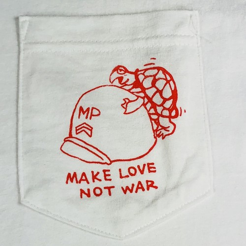 Vietnam War Pocket S/S T-Shirt, Make Love Not War