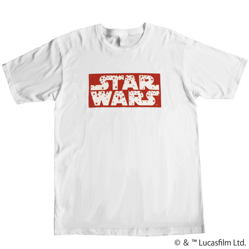 【スター・ウォーズ】STAR WARSロゴ|レッドスター Tシャツ