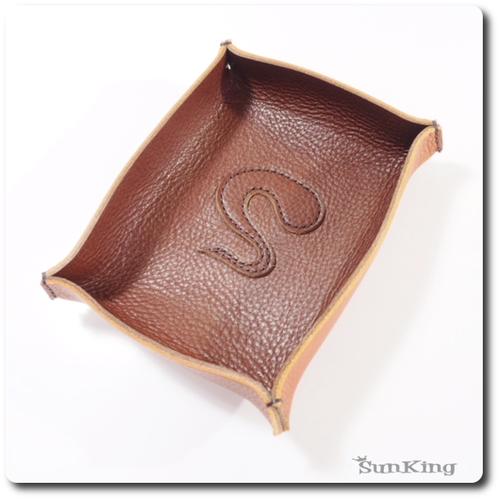 レザートレイ(チョコ×キャメル)アリゾナ ヌメ革