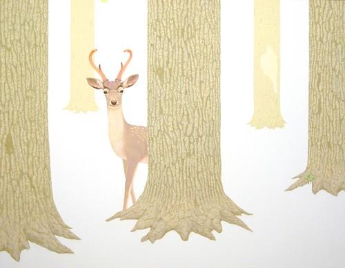 タイトル 『こんちわ、鹿です』