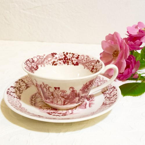 "50's Dutch Vintage ""Petrus Regout Maastricht Richmond"" Tea Cup&Saucer [CCV-12]"