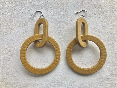 D-HOOP PIERCE / EARRING 【CAMEL】