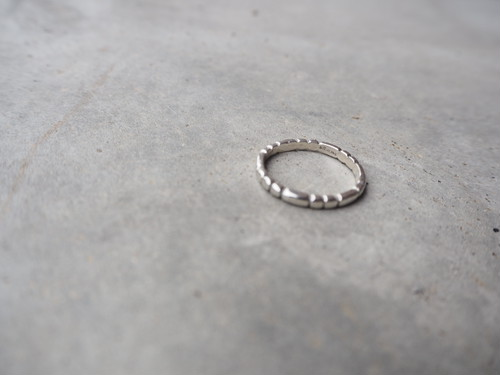 〈vintage silver925〉tiny band ring