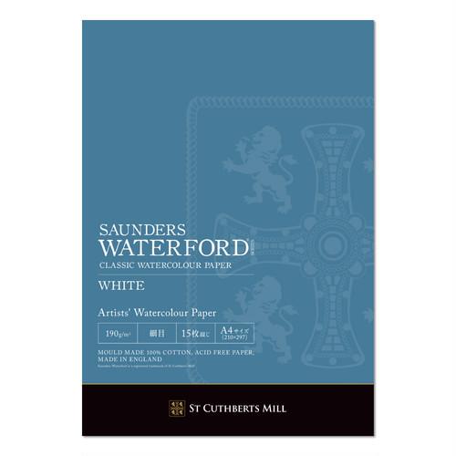 ウォーターフォード水彩紙 ホワイト  A4パッド