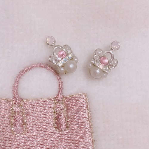 AOINAILS SPECIAL Series [ Pink Tiara ピアス ]