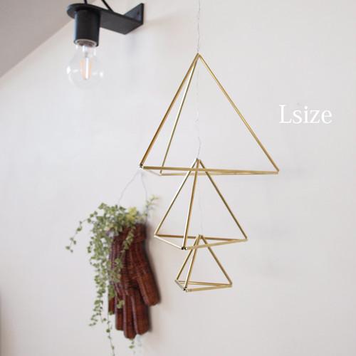 [手作りキット]真鍮のヒンメリとチランジアのセット △Lサイズ