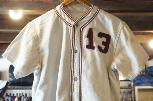 50's distressed cotton Base Ball Jersey