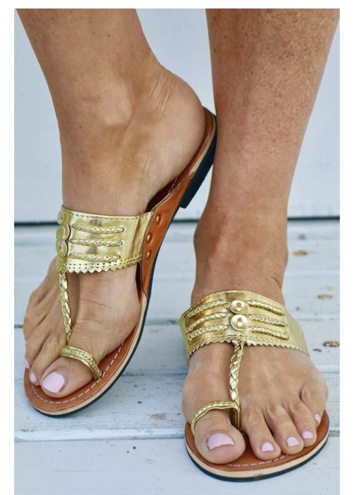 ◆Mon ange Louise◆ 予約受付中!SANDAL INDI SLIPPER(gold)