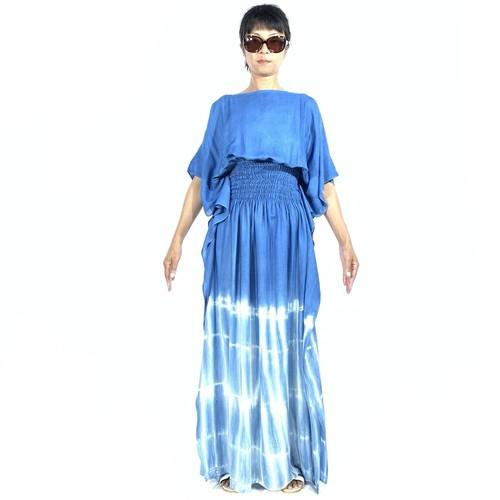 あい染め ドレス #kairo #seablue
