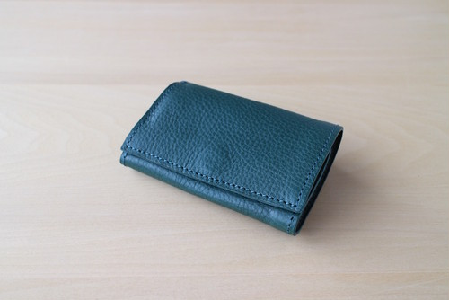 PLAY WALLET - LEATHER[TURQUOISE]