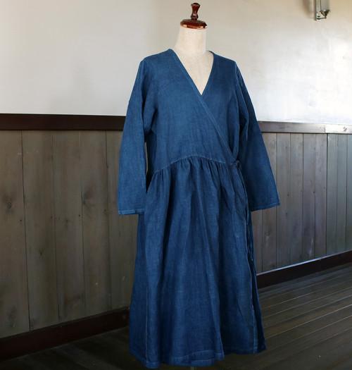 藍染カシュクールワンピース(aw84)