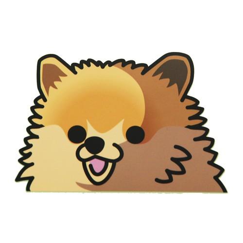 ポメラニアン(大) 犬ステッカー