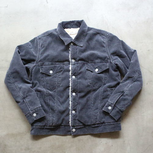 REMI RELIEF ボアコーデュロイ3rd jacket BLACK