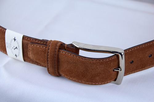 Giorgio Zoni Suede Leather Belt -Mocha ジョルジオ・ゾーニ レザーベルト