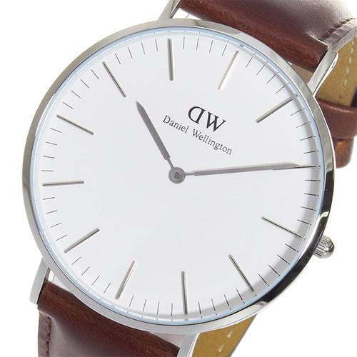 ダニエルウェリントン 腕時計 CLASSIC ST MAWES 40 シルバー 0207DW DW00100021 ホワイト ブラウン ホワイト