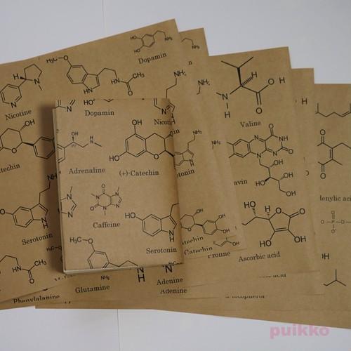 紙製ブックカバー 化学構造式