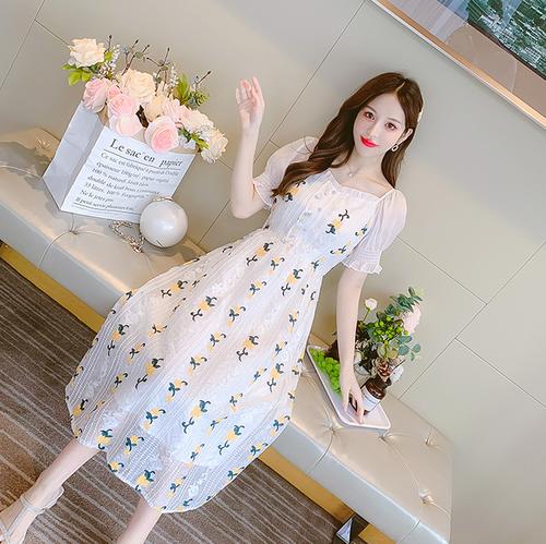 【dress】主役級おすすめエレガントチュニック花柄デートワンピース着心地良い