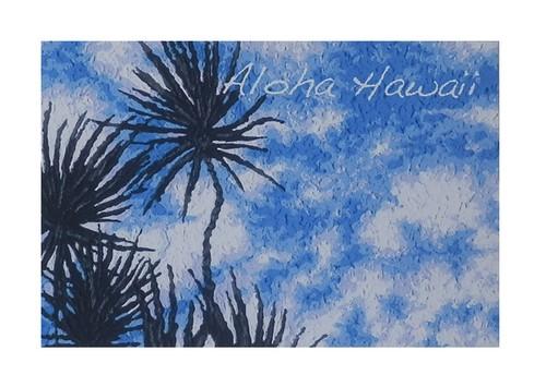 Aloha Hawaii ポストカード 絵画:デイタイム(Daytime)