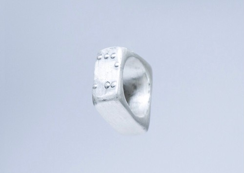 BRAILLE RING   【Trapezoid】