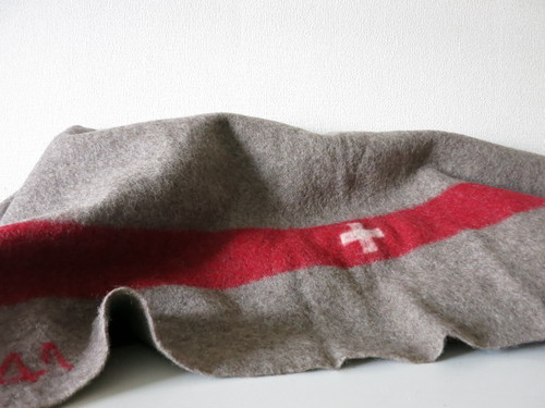 1940's Swiss Army Wool blanket