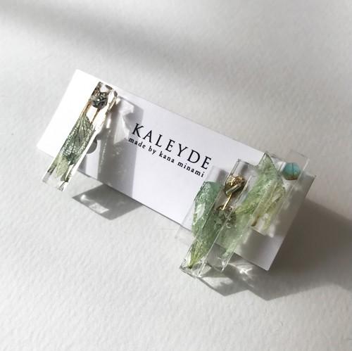 Ice earrings / Ice green