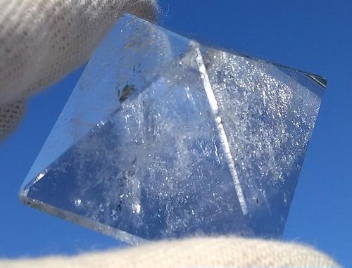 神聖幾何学水晶発振器 ピラミッド型  4cm