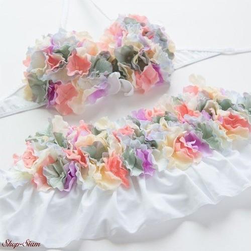 Chuan Pisamai / チュアンピサマイ お花の水着 バンドゥ&スカートタイプ (マルチカラーC)
