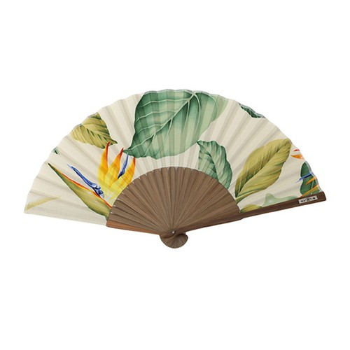 Hawaii Fabric扇子・極楽鳥花