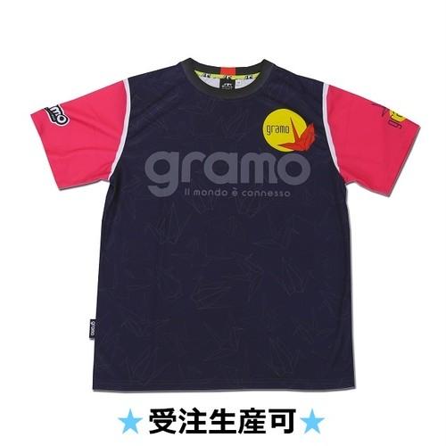プラクティスシャツ「RISE」(ネイビー/P-036)☆受注生産可☆