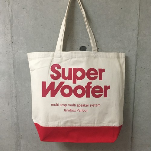 "JBP ORIGINAL "" SUPER WOOFER TOTE BAG "" (RED)"