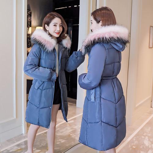 【アウター】絶対流行ファッション無地フード付き長袖ダウンコート24977586