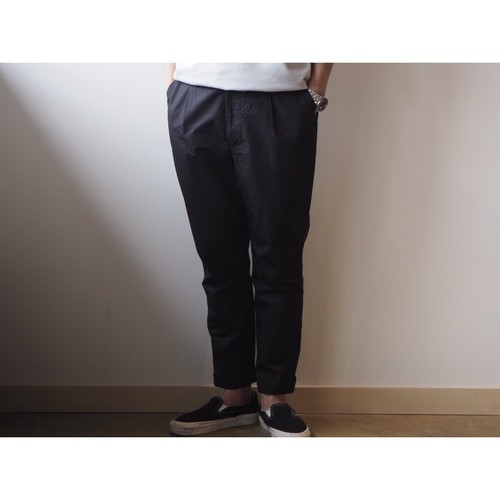 BASISBROEK(バジスブルック) 『SENNE』1Pleats Cotton Silk Pants