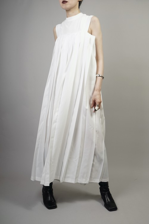 PLEATED ONE PIECE  (WHITE) 2106-23-80