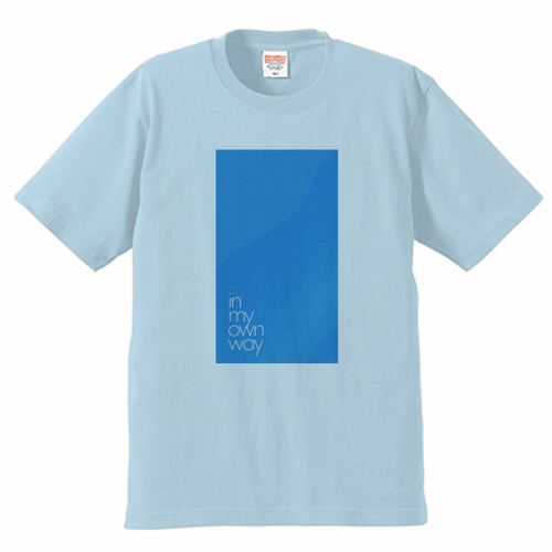 """""""in my own way e.p.""""Tシャツ ライトブルー"""