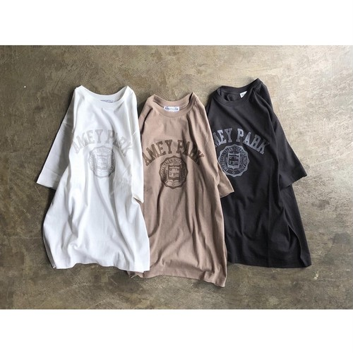 AMERICANA(アメリカーナ) Middle Length Loop Wheeled S/S T-shirt