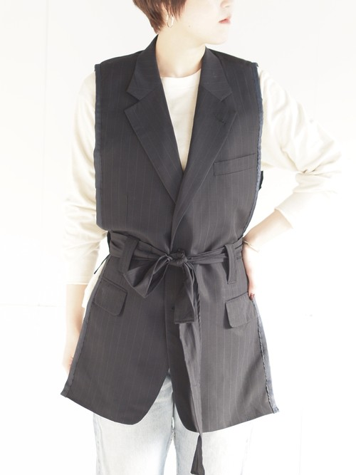 Remake suit jacket vest/D
