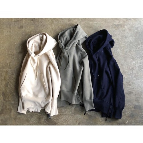 AMERICANA(アメリカーナ) Volume Sleeve Side Zip Hooded Sweat Parka