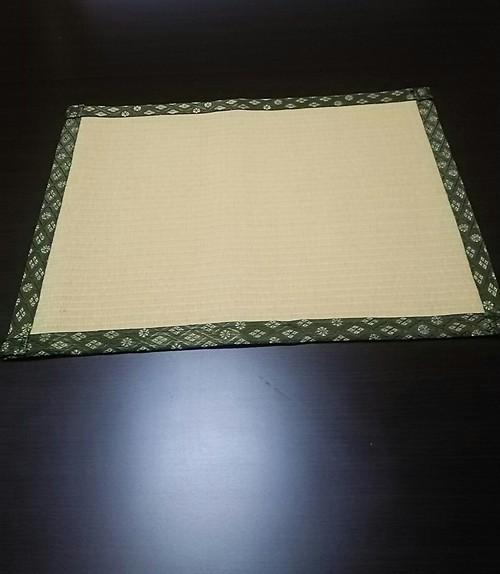たたみランチョンマット黄金色(耐水性)樹脂加工カラー表