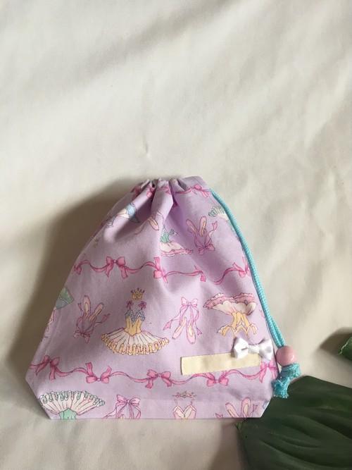 【オーダーOK】入園入学給食袋コップ入れ巾着06バレリーナバレエ