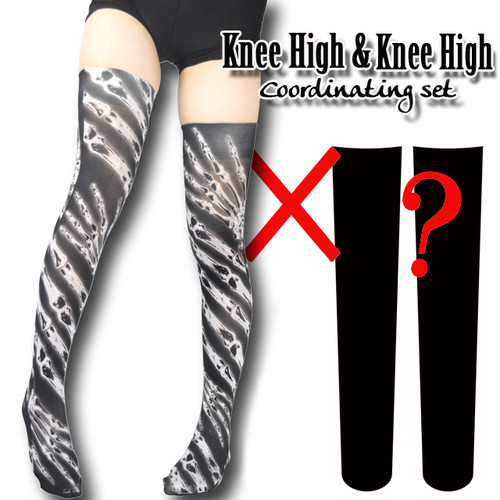 Selectable knee high socks! Set sales<レントゲン/X-ray>