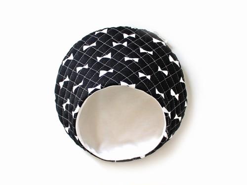 ハリちゃんのおやすみベッド(夏用) リボン ブラック / Hedgehog bed for summer