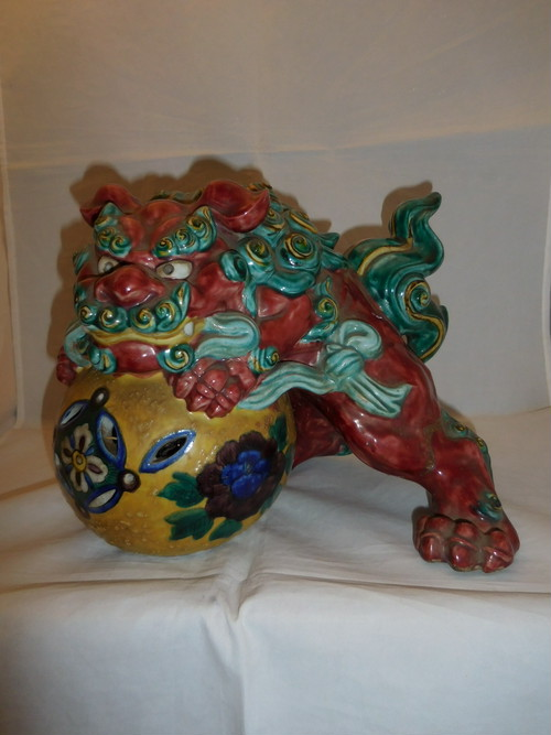 九谷唐獅子 Kutani porcelain Lion(No3)